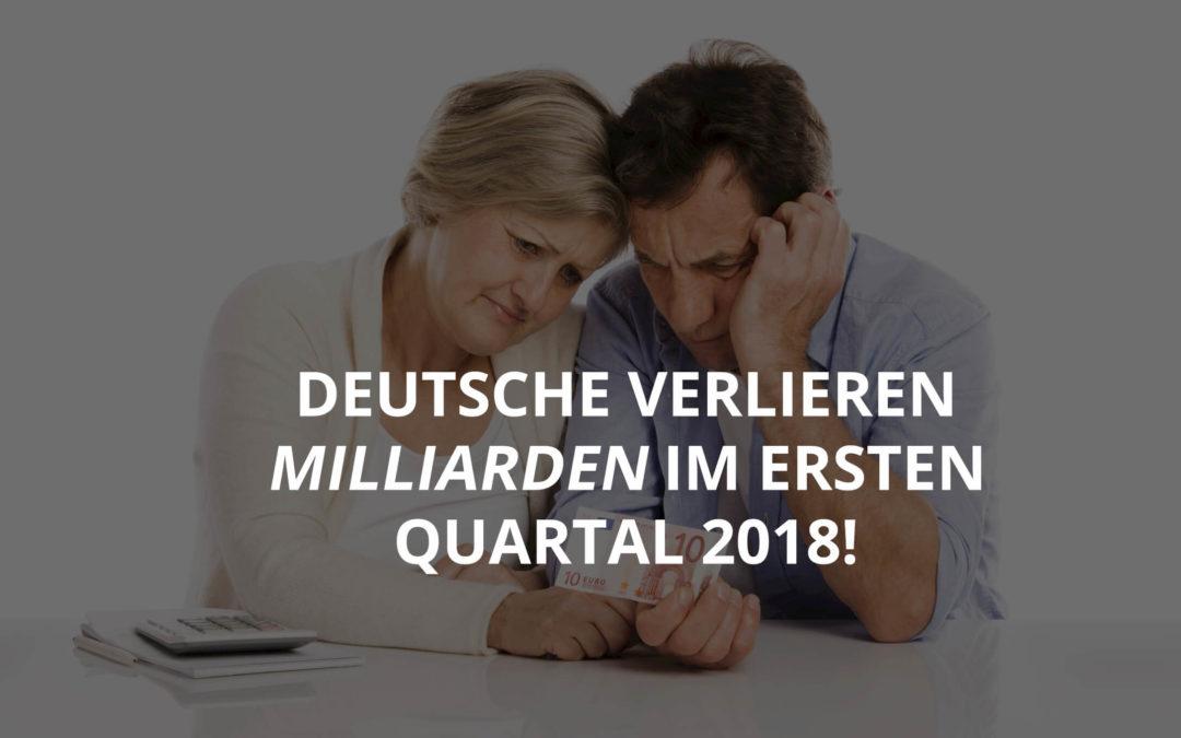 Deutsche verlieren Milliarden im ersten Quartal 2018